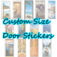 3D Size Custom Door Stickers Living Room Bedroom Door Creative Home Decoration Removable Wall Stickers One Can Be Customized