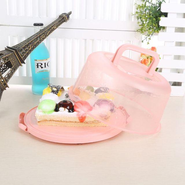 Boîte à gâteaux Portable Portable PP guidon | Guidon de stockage de gâteaux, conteneur de pâtisserie, porte-biscuits