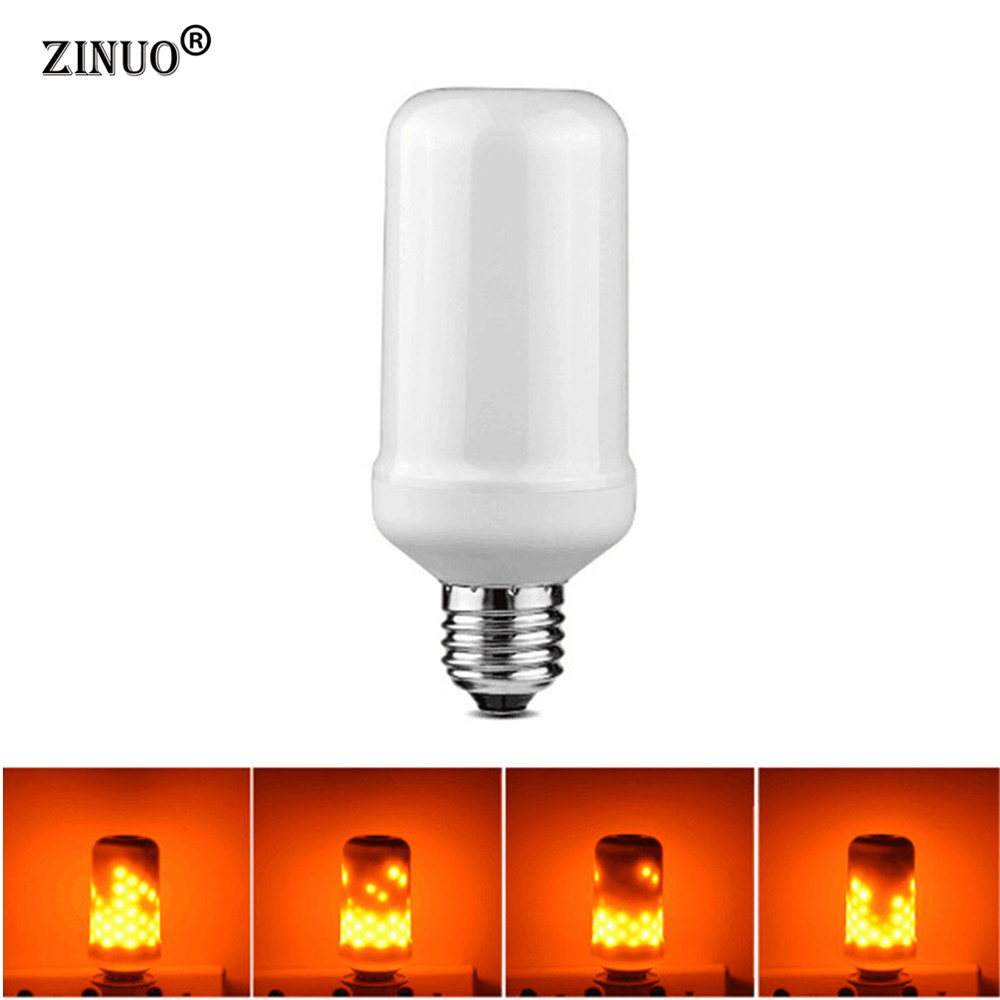 Flame Led Lamp E27 Us 14 42 Zinuo Led Flame Lamps E27 Lamp Flame Effect Light Bulb Ac85 265v Bedside Lamp 3w Led Lamp Flickering Emulation Fire Light Led In Led Night