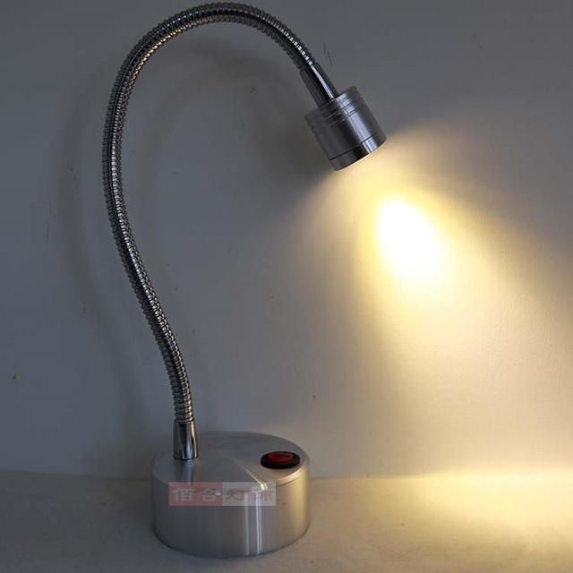 Exhibición de la joyería contador LED 1w3w lámpara de la lámpara de la batería con la propagación del hogar lleva boda noche de luz