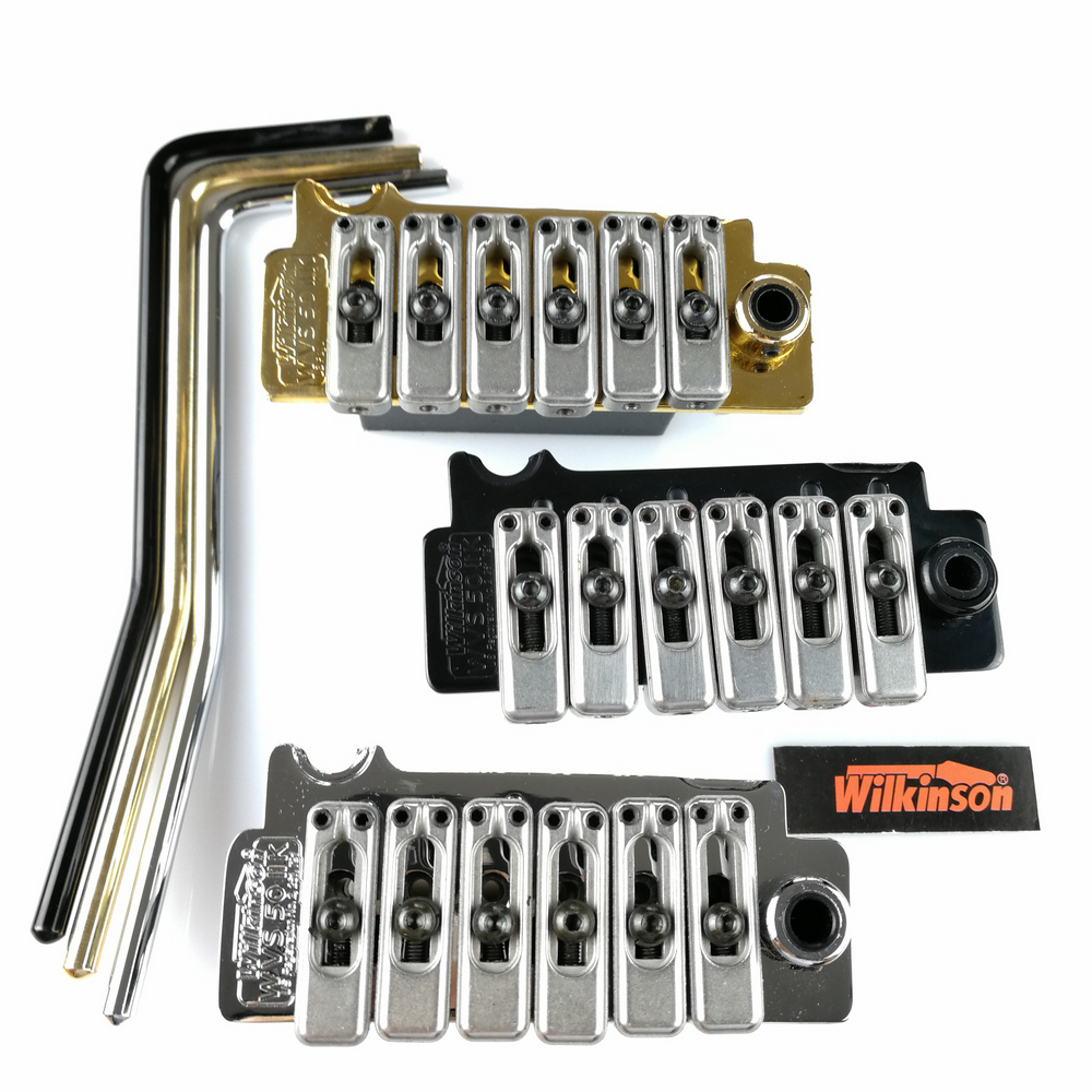 Image 2 - New Wilkinson WVS50IIK Electric guitar tremolo bridge Tremolo System silver Black and Gold-in Guitar Parts & Accessories from Sports & Entertainment