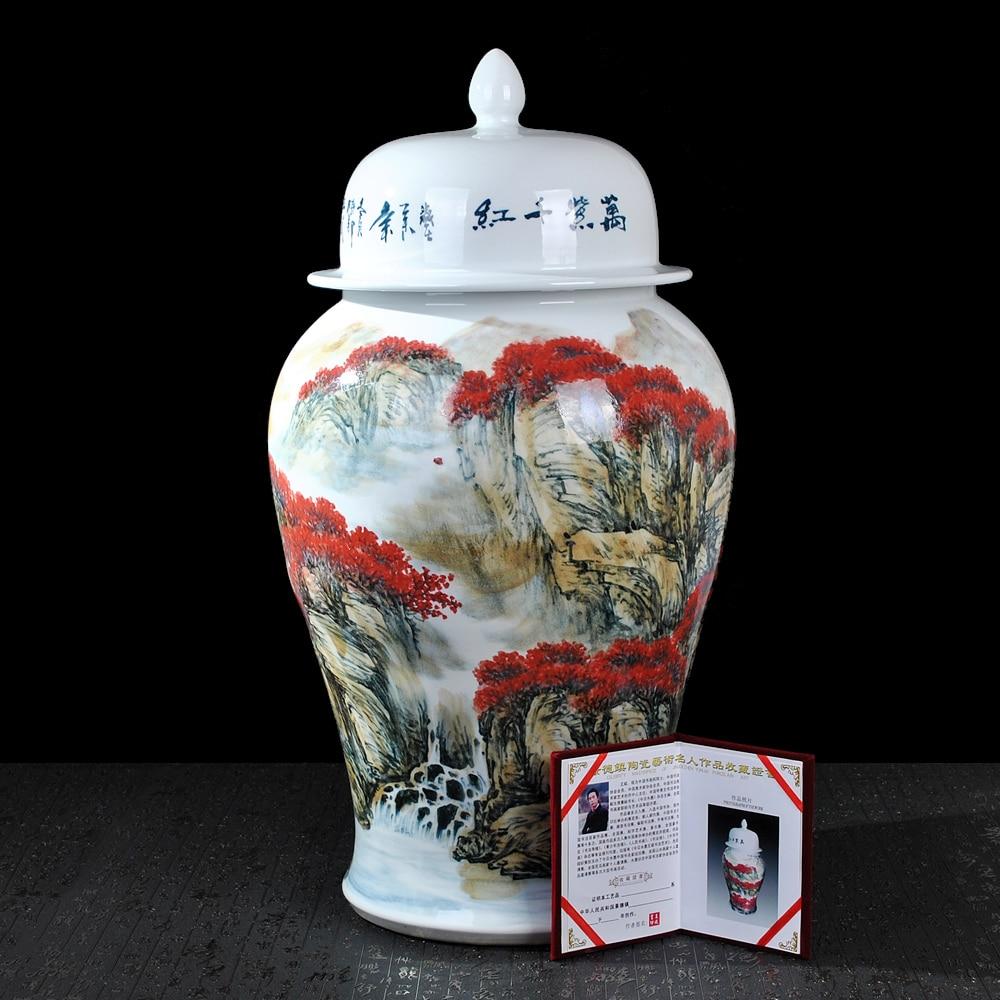 Академик Ван bin раскрашенные буйство цвета общие бак для хранения больших керамические migang декоративные украшения