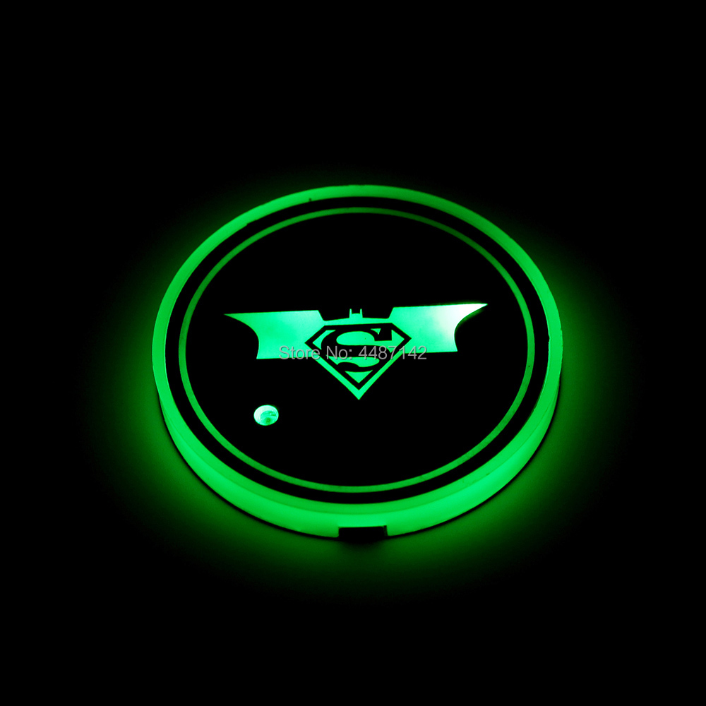 2 шт. Универсальный светодиодный автомобильный подстаканник коврик светодиодный свет крышка отделка атмосферная лампа огни