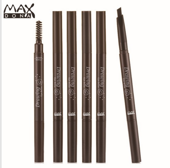 Waterproof Longlasting Eyebrow Pen Eye Brow Liner Powder Shapper Makeup Tool Cosmetic double heads shadow enhancer autorotation