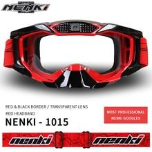 NENKI Motocross Off-Road Glasses Motorcycle ATV Dirt Bike MX DH Downhill Racing Eyewear Ski Snowboard Goggles Replaceable Lens