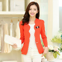 New Style Fashion Women Slim Short Type Korean on Button Small Coats Jackets