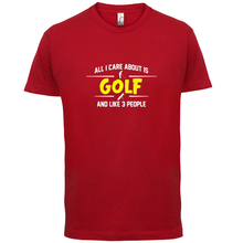 I Care About Is GolfER - Mens T-Shirt / SportER Colours Name Print T Shirt Short Sleeve Hot Tops Tshirt Homme