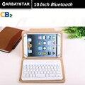 Teclado bluetooth russa 10 polegada tablet teclado para usar teclado de couro micro usb para placa tablet dispositivo língua espana