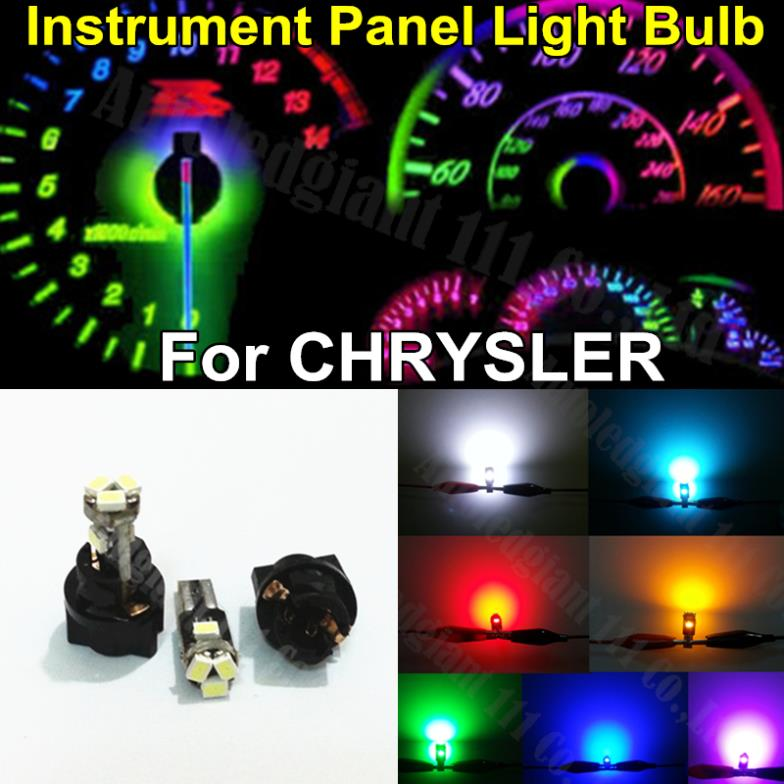 10x 74 73 T5 Instrument Panel Cer Bulbs And Socket Led Light Car Dash Sdometer Lamp Dashboard For Chrysler