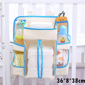 Image 5 - Baby Crib Bed Hanging Storage Bag Baby Bed Diaper Organizer Bedding Sets Accessories for Crib Storage and Nursery Organization