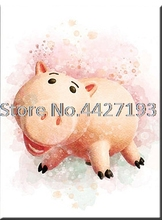 Mosaic 5D DIY Diamond Lovely Pig cartoon Full Painting Cross Stitch Square Drill  Decoration