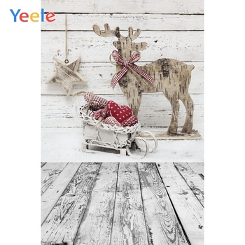 Yeele Christmas Photocall Snow Wood Elk Sled Decor Photography Backdrops Personalized Photographic Backgrounds For Photo Studio mocsicka christmas winter snow night backdrops for photography christmas tree fence decor photographic studio photo backgrounds