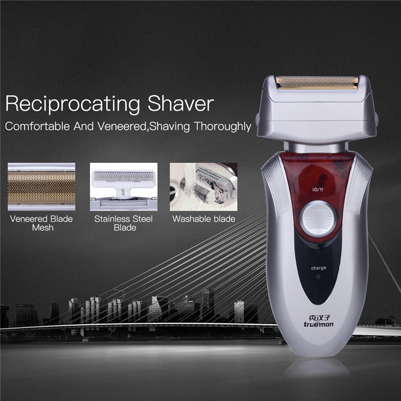 trueman Mini Rechargeable Reciprocating Single Blade Electric Shaver Razor for Men Stainless steel blade sideburns trimming 45 rechargeable reciprocating blade shaver professional electric shaver sideburns trimmer moustache razor barbeador machine face378