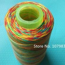 203 многоцветная пестрая цветная нить для шитья Радужная полиэфирная нить для вязания крючком/плетения кружевом/плетения