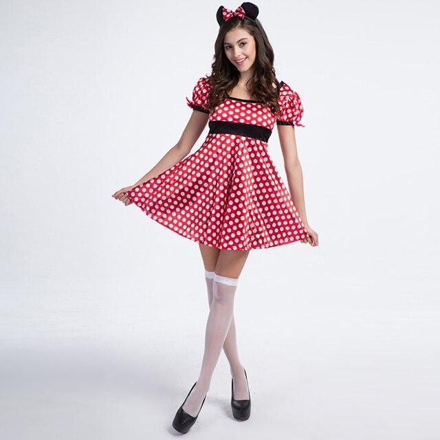Minnie mouse traje atractivo de las mujeres lovely girl fancy dress ...