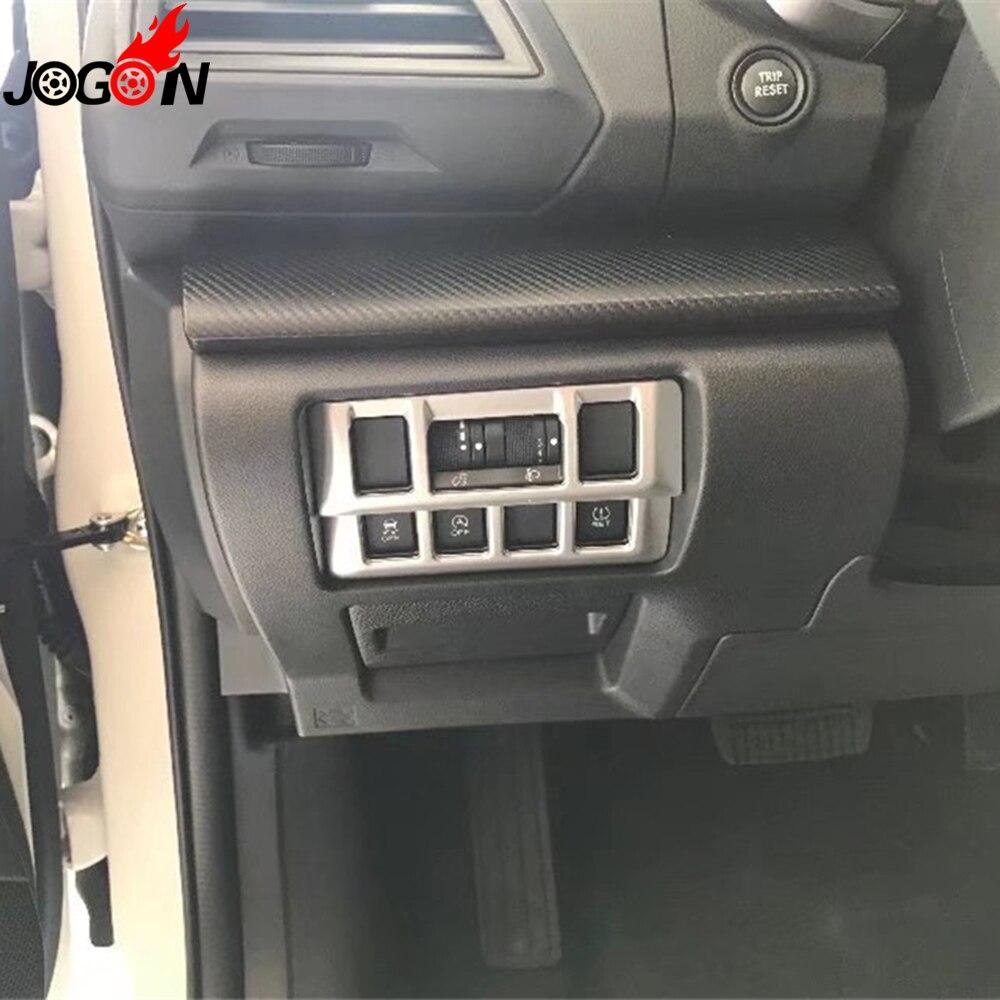 1 stksset voor subaru xv 2018 2019 hatchback auto interieur koplamp hoofd fog lamp aanpassen knop cover trim mat zilver abs chrome in 1 stksset voor