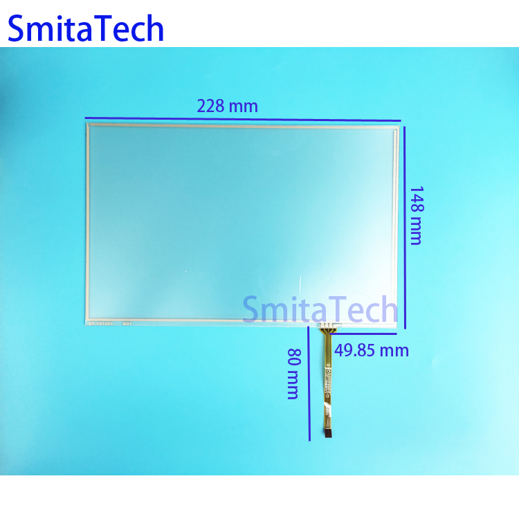 10 1 inch 4wire Resistive Touch screen Digitizer panel ST 101001 228x148mm resistance screen replacement repair