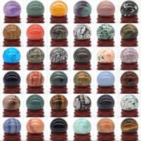Natürliche Gemischte Stein Ball Natürlichen Mineral Quarz Kugel Hand Massage Kristall Ball Healing Feng Shui Home Decor Zubehör 30mm