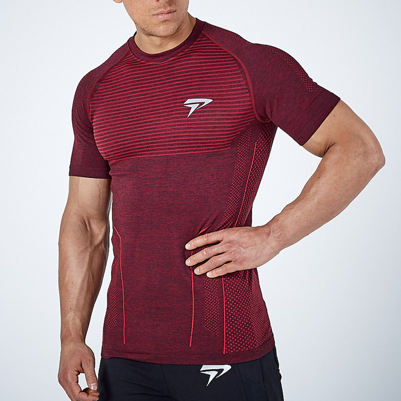 2018 New Men Running Tight Short T-shirt compression Quick dry t shirt Male Gym Fitness Bodybuilding jogging Tees Tops clothing
