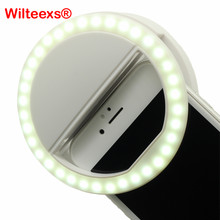 WILTEEXS 36 LED Flash Led Câmera Portátil Clip-on do telefone Móvel Selfie Enhancing vídeo anel de luz luz Da Noite(China)