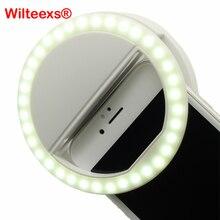 WILTEEXS 36 LEDแบบพกพาแฟลชLedกล้องคลิปบนโทรศัพท์มือถือโทรศัพท์S Elfieแหวนแสงไฟวิดีโอคืนเสริมสร้าง