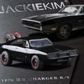 JADA 1:32 масштаб Высокая имитационная модель сплава автомобиля, Черный Dodge Challenger Воин, качество игрушки модели, бесплатная доставка