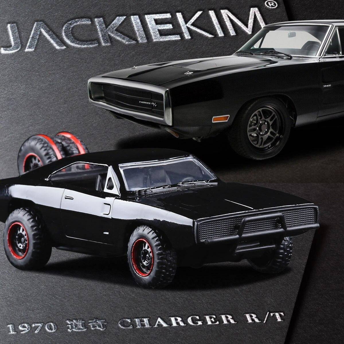 Jada 1 32 scale high simulation alloy model car black dodge challenger warrior