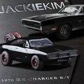 Jada escala 1:32 alta simulación de aleación modelo de coche, negro guerrero dodge challenger, modelos de juguetes de calidad, envío libre