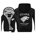 House Stark of Winterfell Printing Game of Thrones Thickness Hoodies Adult Baseball Sweatshirts men Winter Jacket Coat Big size