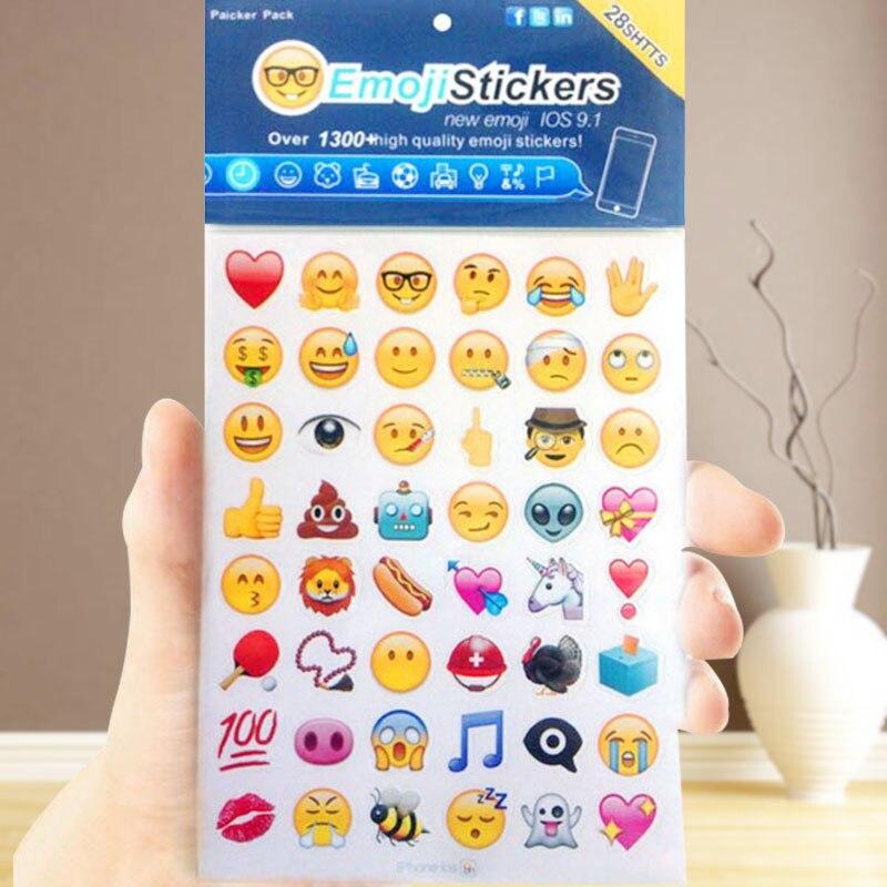 1 листов развлечение смех 48 Emoji стикер s IOS 9 Apple Iphone обновление наклейка для