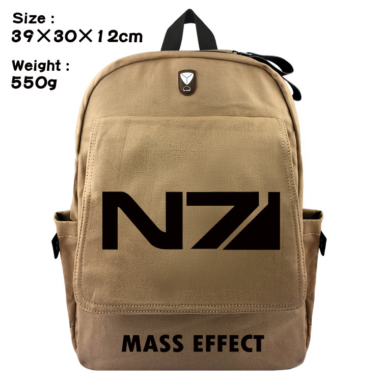 2018 Mochilas School Bags For The New American Game font b Peripheral b font Mass Effect