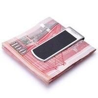 Modern Brand New 2017 Cow Genuine Leather Money Clip Clamp Slim Pocket Purse Card Holder Cash