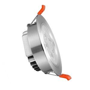 Image 3 - 1x3W 5W 7W 12W 220V 높은 전원 LED 통 Recessed LED 스포트 라이트 램프 알루미늄 전구 거실 침실 조명