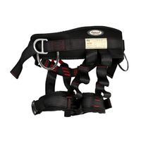NTR 22kN Black Adjustable Harness Security Seat Belt Climbing Rappelling Harness