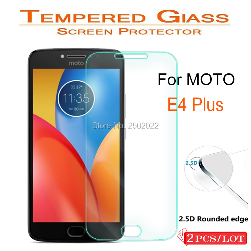 2Pcs Tempered Glass for Moto E4 Plus Screen Protector 9H 2.5D Phone Protective Film for Motorola E4 Plus XT 1769 1760 1771 Cases image