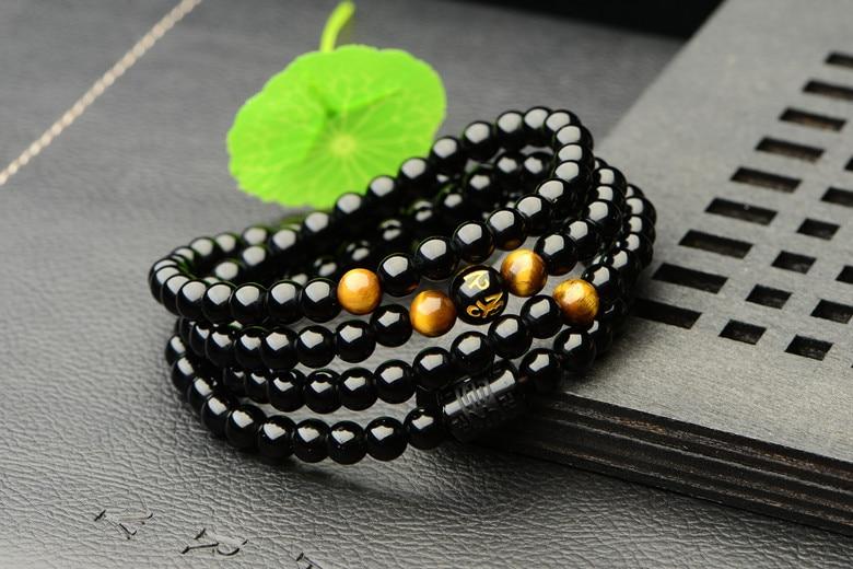 Tiger Eye 108 Beads Mala Bracelet 6
