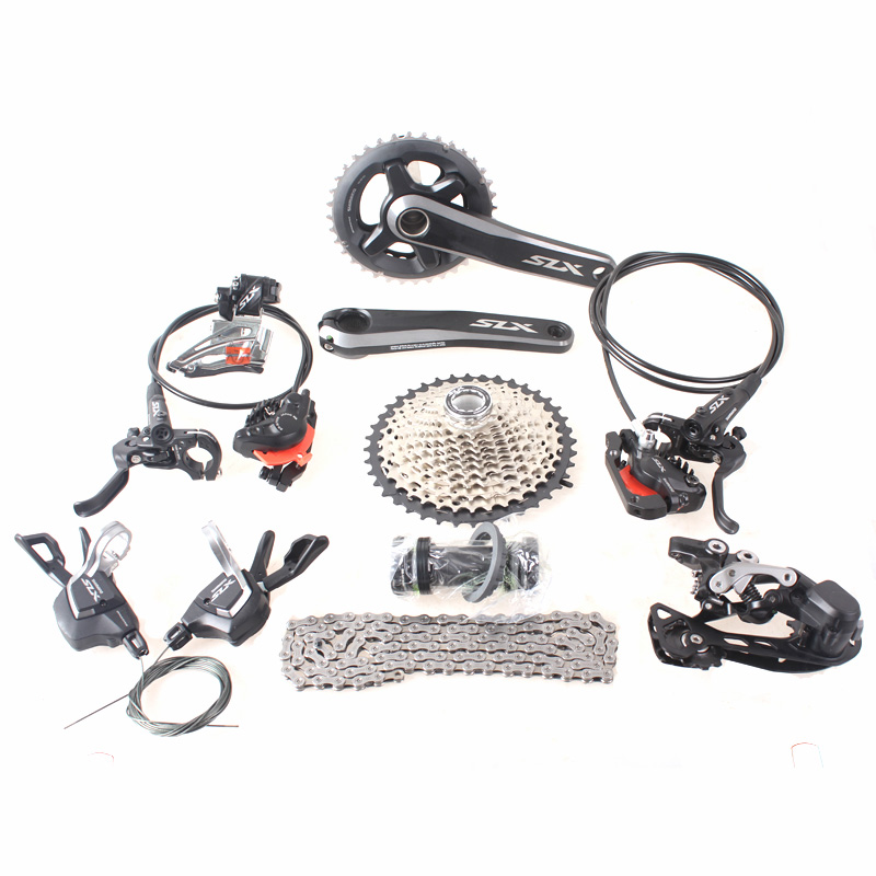 2016 NEW SHIMANO SLX M7000 1x11S 2x11S 11S 22S Speed Groupset and Hydraulic Disc Brake for MTB Mountain Bike shimano slx m7000 groupset 1x11 11s speed 11 42t 11 46t m7000 mtb bike shift lever rear dearilleur cassette chain cranset