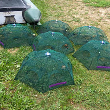 Automatic Fishing Net Trap Folded Hexagon 4 6 8 12 16 21 Holes Automatic Fishing Shrimp Trap Fish Shrimp Minnow Crab Baits Pesca(China)
