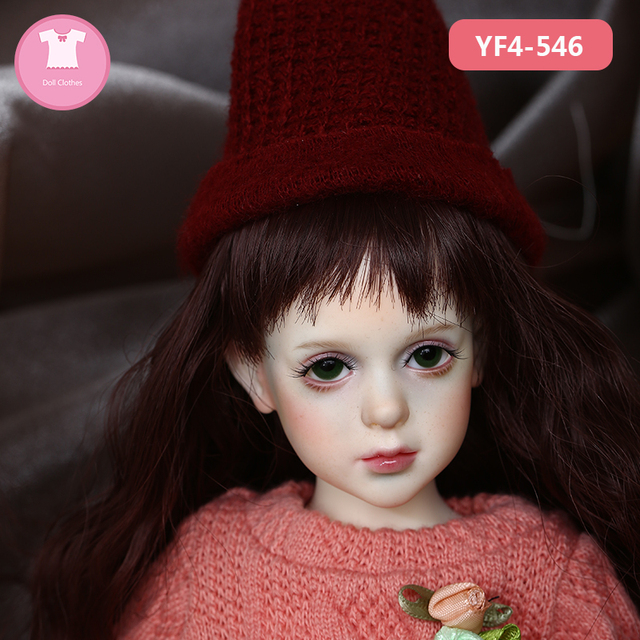 Doll BJD Clothes 1/4 Princess Vintage Dress Elegant For Dollshe Fashion Rosa Mini Toy YF4-336 Doll Accessories