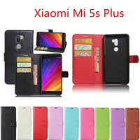 Xiaomi Mi 5s Plus 5.7inch Case Wallet Style PU Leather Mobile Phone Protective Back Cover For Xiaomi Mi5s Plus Phone Bag Cases