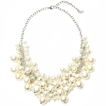 2017 New Fashion Romantic Choker Necklace Beautiful Perfectly Round Simulated Pearl Necklace Women Fashion Evening Wedding Dress