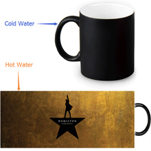 Hamilton Broadway Musical 350ml/12oz Heat Reveal Mug Color Change Coffee Cup Sensitive Morphing Mugs Magic Mug Milk Tea Cups