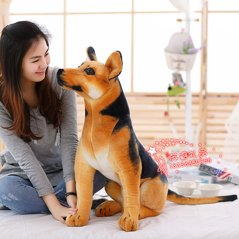 big size simulation dog toy lovely sitting plush shepherd doll gift about 75cm 1879 new plush gray akita dog toy lovely cute fat sitting akita dog doll gift about 45cm