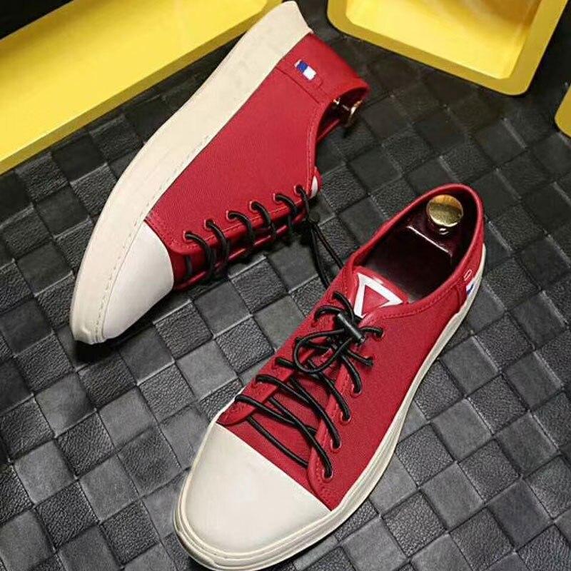 2019 nuovi Uomini di modo Vulcanize Scarpe casuali del cuoio genuino della mucca classico nero bianco scarpe uomo piattaforma scarpe per gli uomini size 38 45 - 2