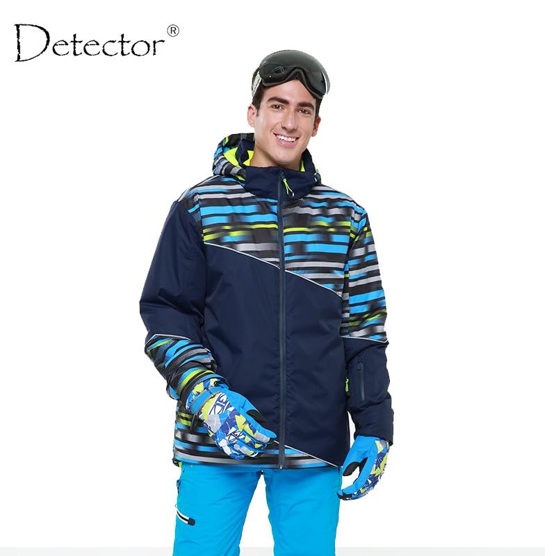 Detector Men Ski Jacket Waterproof Windproof Winter Ski Suit Snowboard Warm Snow Clothes