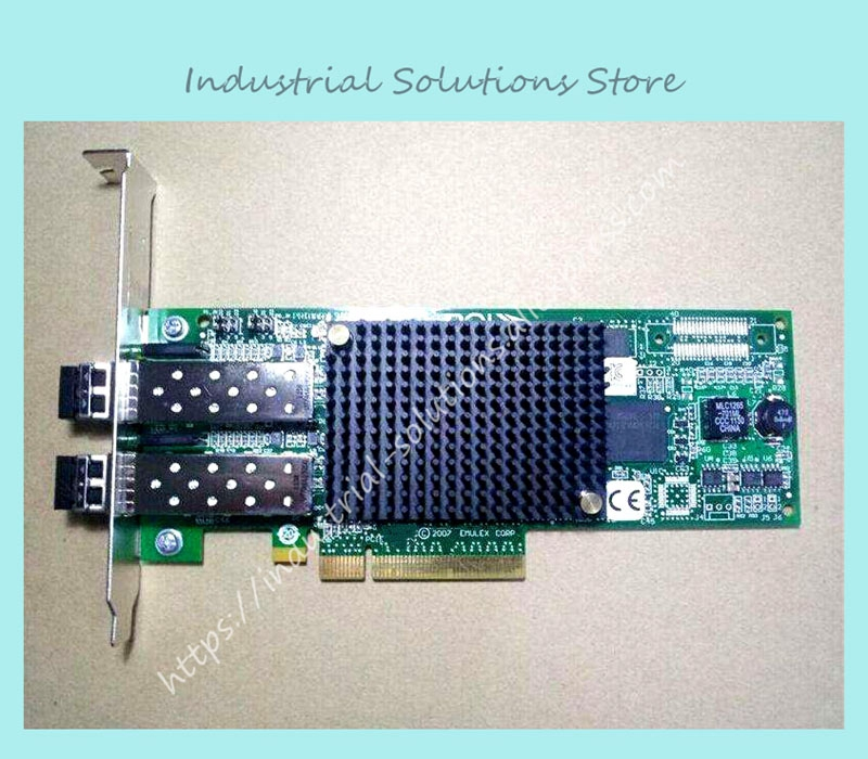 8G HBA card PCI-E dual card LPE12002 fiber 100% tested perfect quality hba card for 07t5gy 0kkywj 825 br825 dual port well tested working