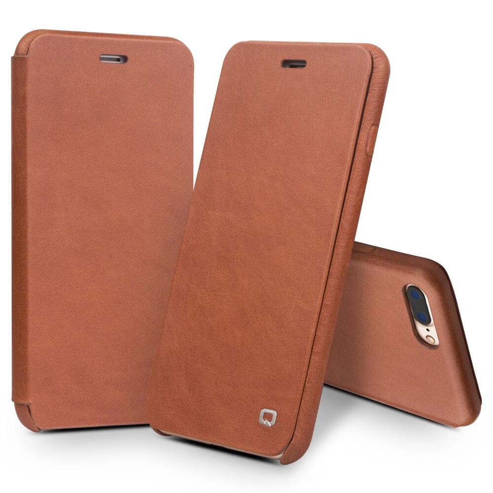 QIALINO пояса из натуральной кожи флип чехол для iPhone 8 Роскошные Ultra Slim ручной работы сотовый телефон чехол для iPhone плюс 4,7/5,5 дюймов