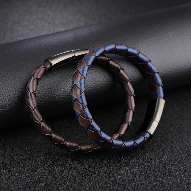 Купить модные аксессуары плетеный кожаный браслет из воловьей кожи