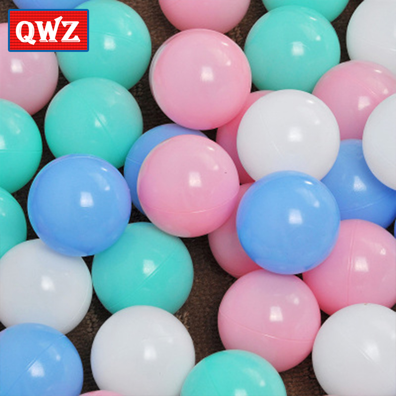 QWZ 100pcs Eco-Friendly Colorful Ball Soft Plastic Ocean Ball Funny Baby Kid Swim Pit Toy Water Pool Ocean Wave Ball Toy For Kid funny kid for president