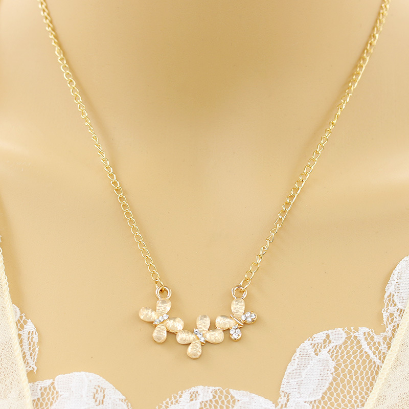 The new version of Crystal Flower Necklace Jewelry Gold jewelry wholesale 38bea1600883